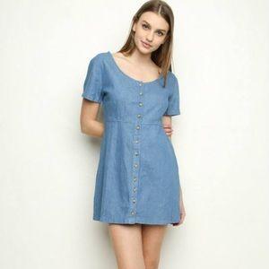 Dresses & Skirts - Brandy Renee Denim Buttoned Mini Dress